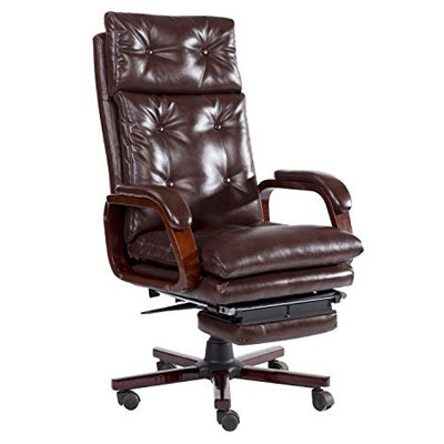 4 Homcom High Back Pu Leather Executive Reclining Office Chair With Footrest