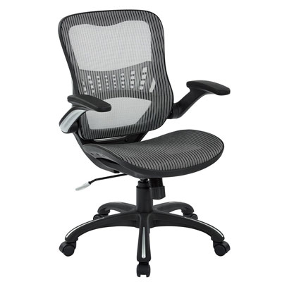 Office-Star-Mesh-Back-&-Seat,-2-to-1-Synchro-&-Lumbar-Support-Managers-Chair,-Grey
