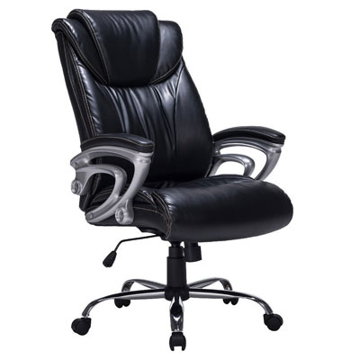 #7 VIVA OFFICE Recliner Bonded Leather Office Chair Thick Padded Executive Chair Black  sc 1 st  Best Office Chair & Top 10 Reclining Office Chairs Reviewed | Definitive Guide For ... islam-shia.org