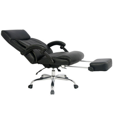 #5: VIVA OFFICE Reclining Office Chair, High Back Bonded Leather Chair With  Footrest  Viva08501