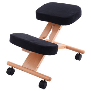 Giantex-Ergonomic-Kneeling-Chair-Wooden-Adjustable-Mobile-Padded-Seat-and-Knee-Rest