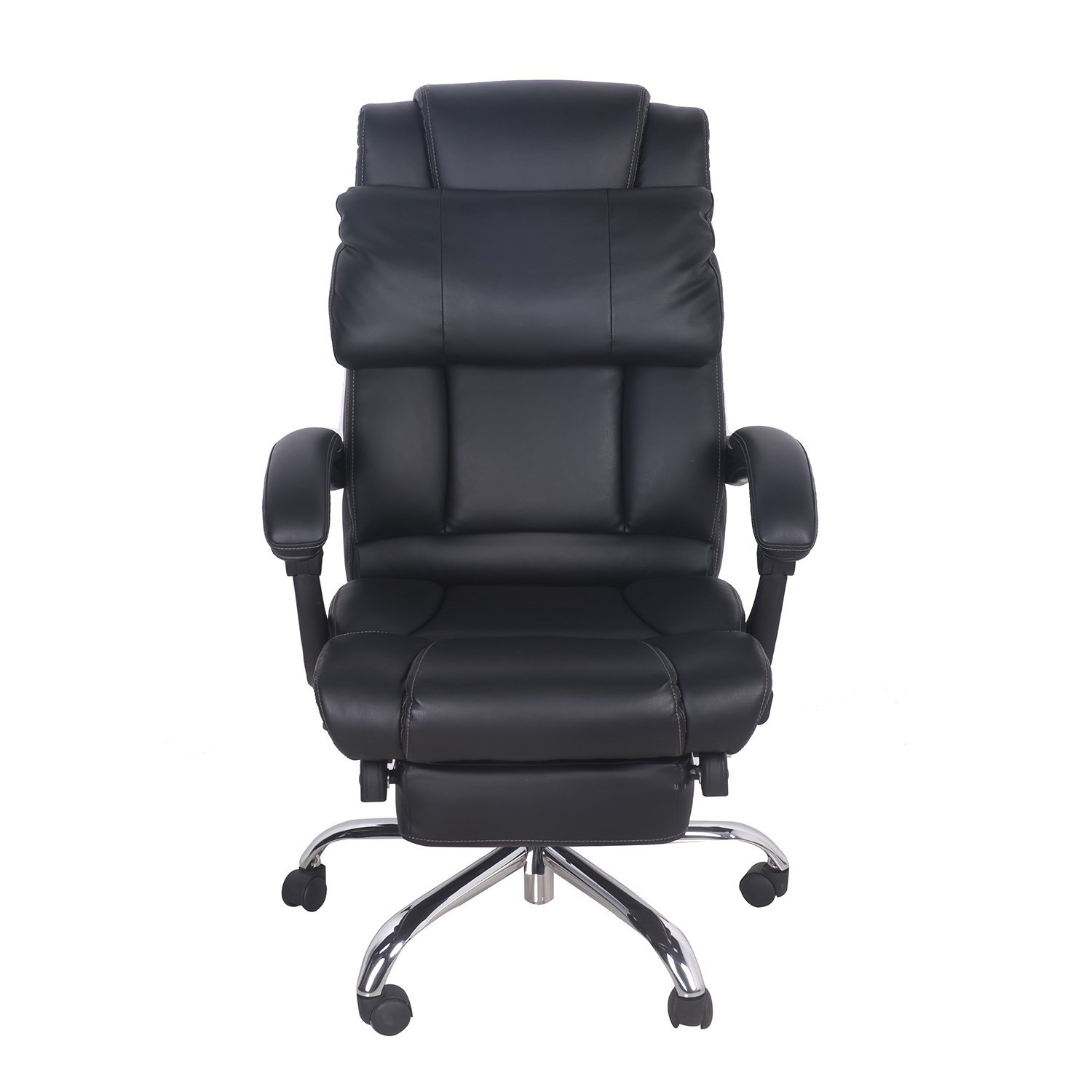 office reclining chair. Merax Technical Leather Big Tall Executive Recliner Napping - Black Office Reclining Chair