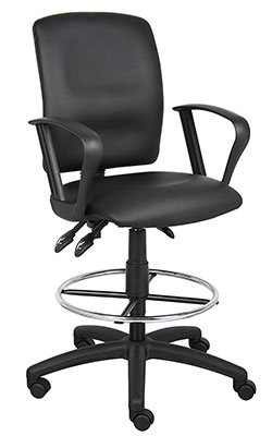 2-Boss-Office-Products-B1647-Multi-Function-LeatherPlus-Drafting-Stool