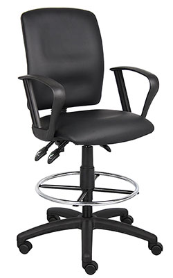6-Boss-Office-Products-B1647-Multi-Function-LeatherPlus-Drafting-Stool