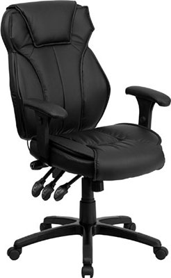 4-Flash-Furniture-High-Back-Black-Leather-Multifunction-Executive-Swivel-Chair