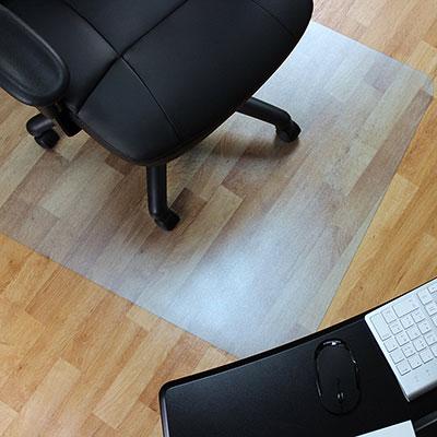 #7: Marvelux Vinyl (PVC) Rectangular Chair Mat For Hard Floors