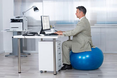 Size Exercise Ball For Sitting At Desk