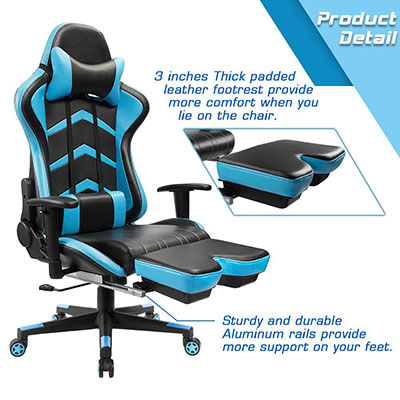 Furmax-gaming-chair-high-back-racing-chair---footrest