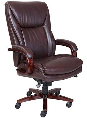 La-Z-Boy-Edmonton-leather-office-chair